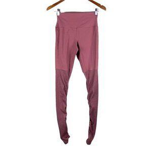 Alo goddess dusty pink sock leggings women's size small
